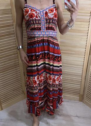 Легкое платье с цветочным принтом tu