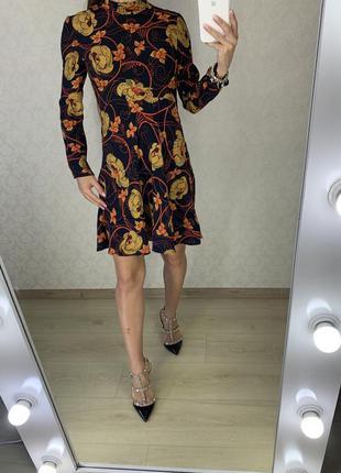 Легкое платье в цветок zara