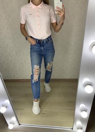 Рваные джинсы mom new look