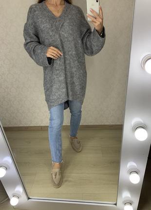 Удлиненный мохеровый свитер h&m