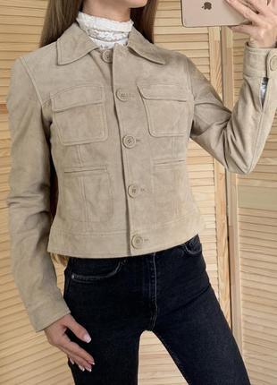 Натуральная замшевая куртка marks&spencer