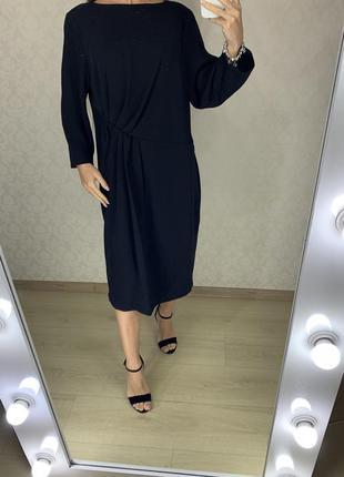Классическое платье с драпировкой marks spencer