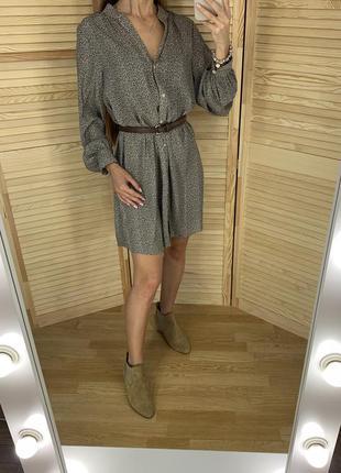 Шифоновое платье рубашка h&m