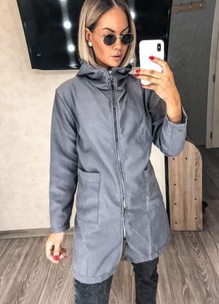Куртка осенняя с капюшоном парка