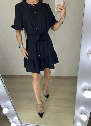 Платье с волана на пуговичках primark