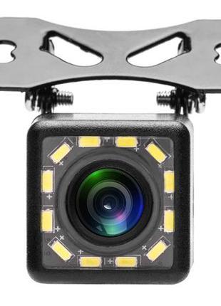 Камера заднего вида влагозащищенная, с подсветкой 12 led