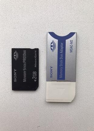 Карта памяти Sony Memory Stick Duo Adapter MSAC-M2 (2 gb)