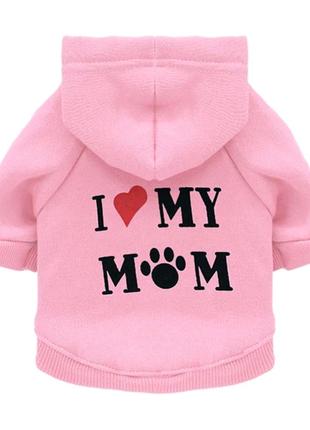 "🐱Толстовка ""i love my mom"" для собак, животных🐶"