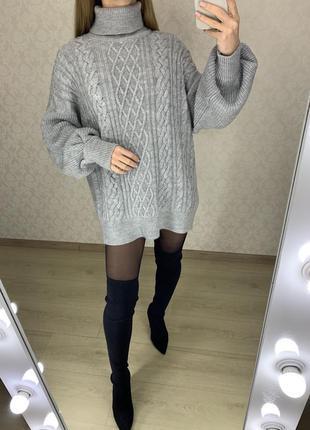 Теплый мягкий свитер с объемными рукавами ff