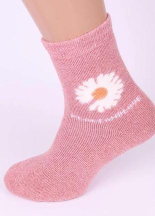 Носки женские ангора шерсть махра .теплые зимие носки