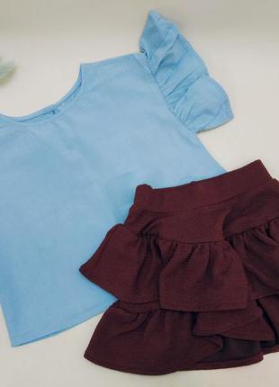 Блузка h&m и юбка kiabi для девочки 2-3 года