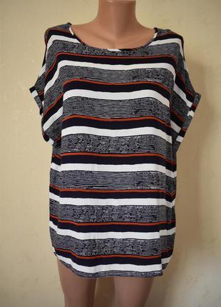 Натуральная блуза с принтом atmosphere