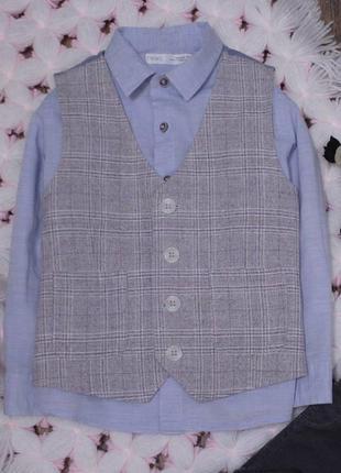 Нарядная рубашка и жилет комплект