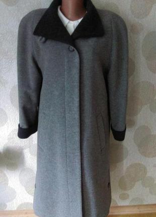Винтажное шерстяное пальто + кашемир  оверсайз  canda  италия ...