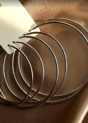Набор серебряные сережки кольца i am серьги колечки asos набор...