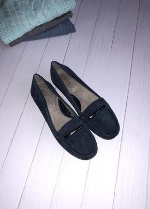 Полностью натуральные замшевые туфли