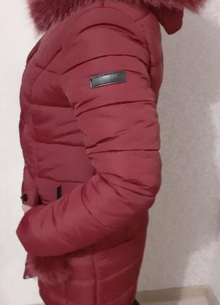 Зимняя куртка, парка, натуральная, мех песец