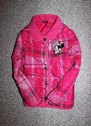 Демисезонная куртка минни маус