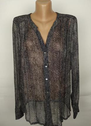 Блуза шелковая красивая легкая 100% шелк uk 14/42/l