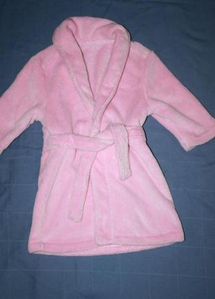Розовый  халат, 1-1,5года