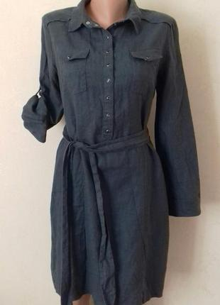 Льняное платье-рубашка kookai