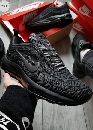 Nike air max 97 kpu black, мужские кроссовки найк аир макс, че...