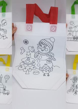 Детский набор для творчества раскрасок / эко сумки разрисовки