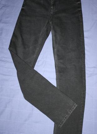 Черные джинсы мом, высокая посадка, на высокий рост