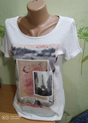Лёгкая футболка с принтом- s-m-s.oliver-