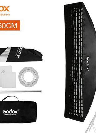 Софтбокс-стрип Godox 35x160см с сотами для студийных вспышек (...