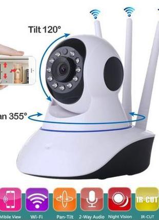 Беспроводная поворотная IP камера видеонаблюдения HD 720P WIFI...
