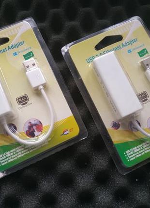 Сетевой адаптер LAN Ethernet RJ45 - USB (Новый) Гарантия