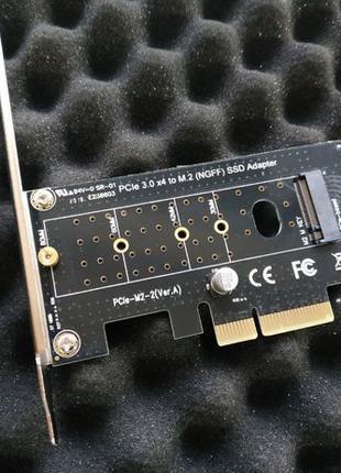 Переходник c PCI-E x4 в M2 NGFF SSD адаптер (Новый) М ключ