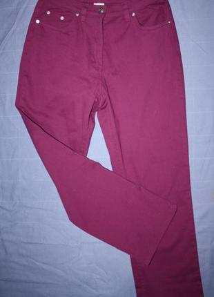 Коттоновые джинсы брюки в стиле мом, высокая посадка ,темная ф...