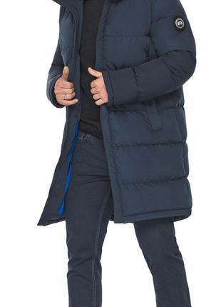 Длинная куртка мужская для зимы чёрная модель 49990