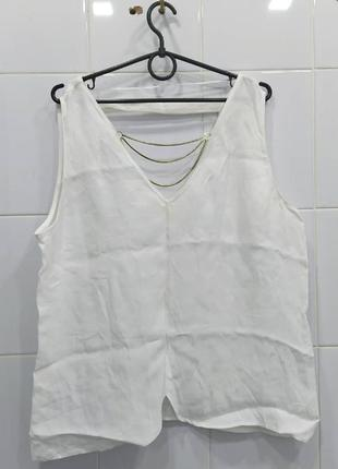 Милая вискозная блуза с цепочкой zara