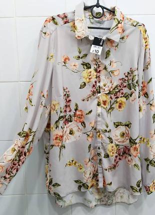 Нежная шифоновая блуза в цветочный принт