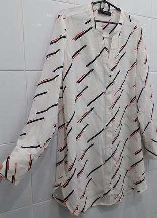 Шифоновая рубашка блуза в трендовый принт