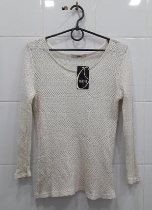 Легкий вязанный свитерок с люрексом