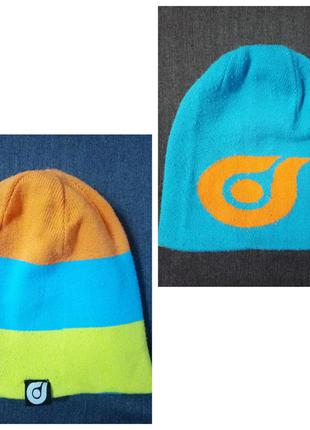 Зимняя двухсторонняя шапка для мальчика
