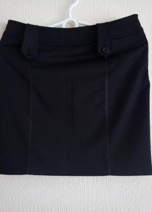 Юбка мини черная