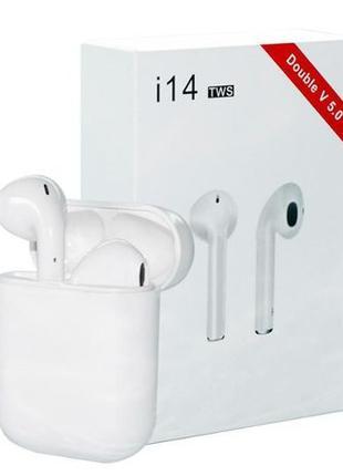 Беспроводные сенсорные наушники i14 TWS Bluetooth Airpods