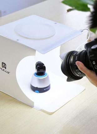 Лайткуб (фотобокс) для предметной съемки Puluz + 2 LED панели