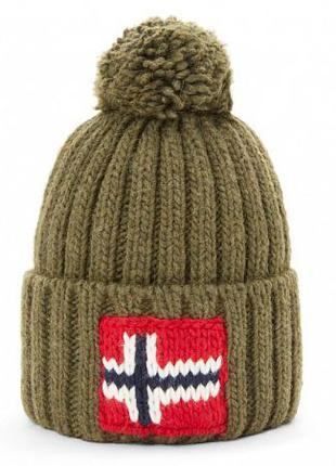 Оригинальная шапка Napapijri Semiury Beanie Green Musk (N0YGSE...