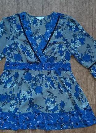 Блузка шифоновая в цветочный принт