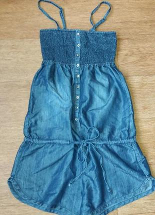 Комбинезон летний джинсовый с шортами