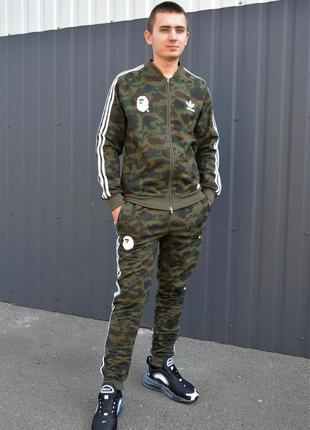 👕 спортивный костюм bape x adidas green camo 👕