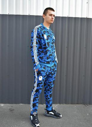 👕 спортивный костюм bape x adidas blue camo 👕