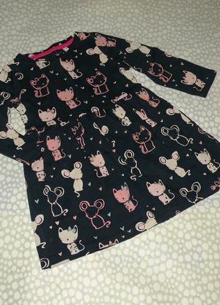 Платье котики 1-2 года