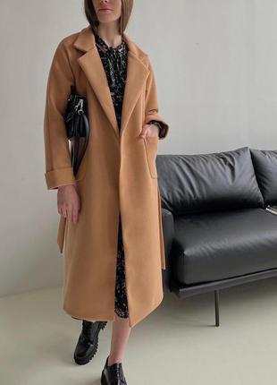 Кашемировое пальто длиное в расцветках ,пальто оверсайз